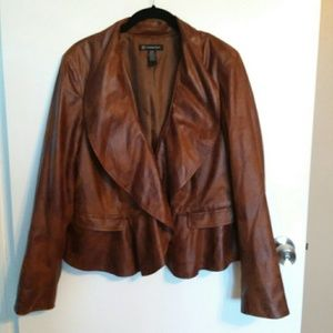 International Concepts Faux Leather Jacket